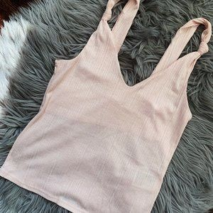 H&M | Light Pink Knotted Top